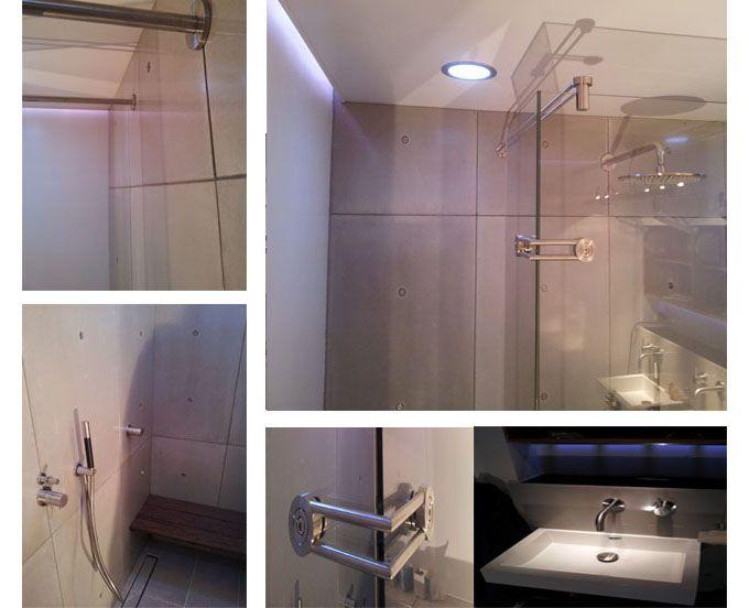 Badkamer Beton Interieur : Betonnen wandpanelen interieur betonnen badkamer