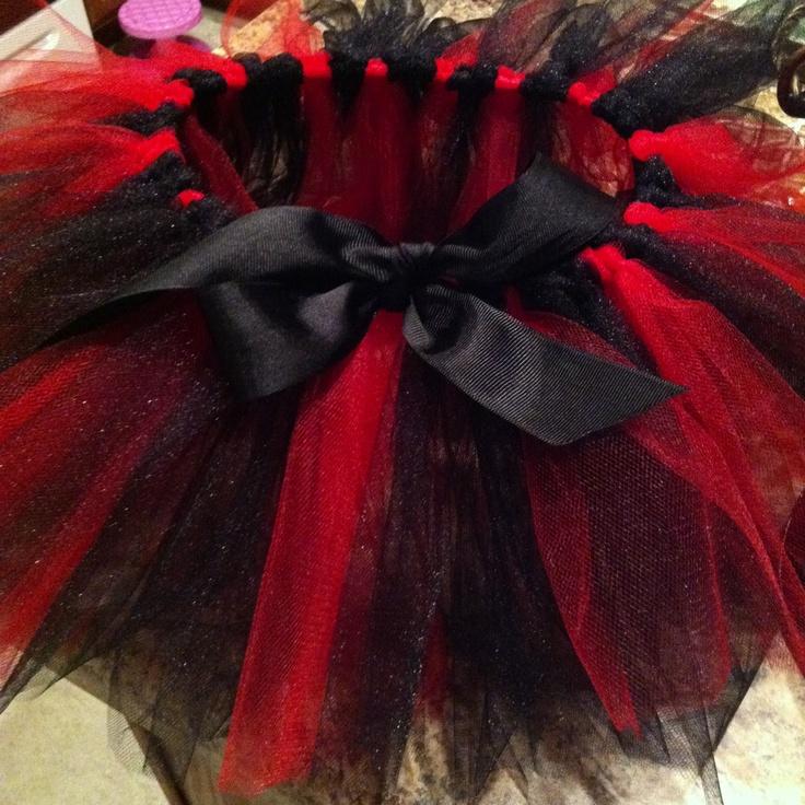 Black and red tutu