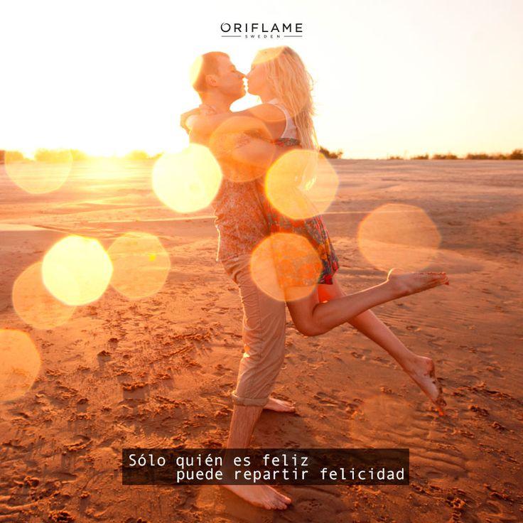 Sólo quién es feliz puede repartir felicidad. #Quotes #Frases #Oriflamecuernavaca