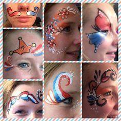 Eye designs voor Koningsdag   Meer ideeën: http://www.jouwwoonidee.nl/koninginnedag-knutselen/