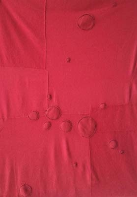 Yves Klein Rouge: Hand stitched & repurposed red cashmere throw blanket.