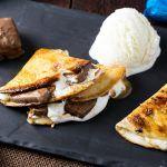 Dessert Quesadilla with SNICKERS® Crisper