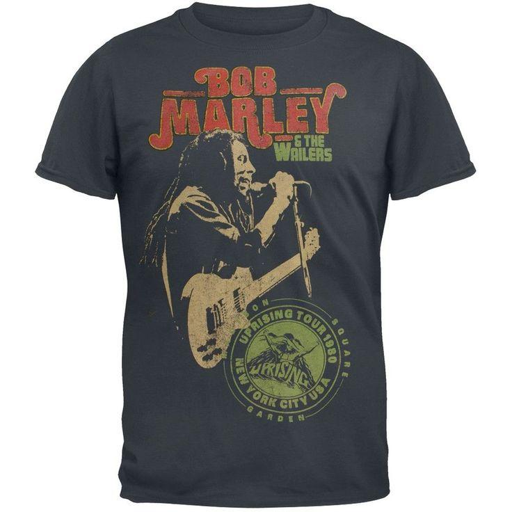 Bob Marley - Uprising Tour 1980 Adult Soft T-Shirt