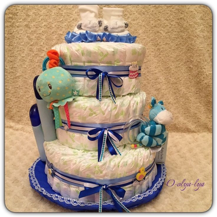 "New baby gifts, cakes of diapers (not for sale!) - Community ""Crafts"" / Crafts - Crafts for newborns"