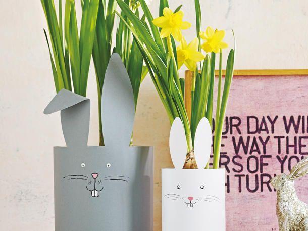 Die besten 25 hasenkost m ideen auf pinterest for Blumentopf verkleidung