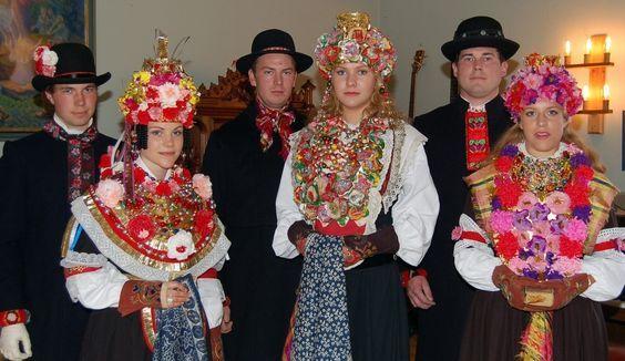 Dala-Floda brides. Dalarna, Sweden.