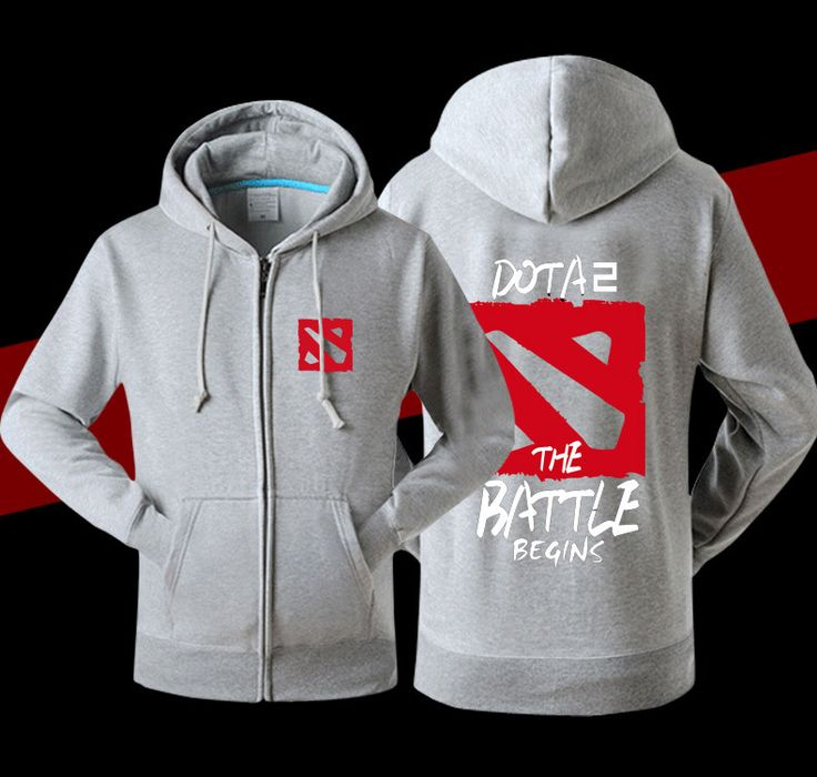 2016 New Arrival Men Dota 2 Printed Hoodies Zipper Fashion Sweatshirt High Quality assassins creed tracksuit men