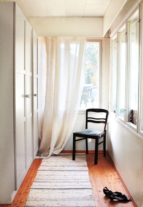 Capture that lovely summer light - sheer linen curtains<3