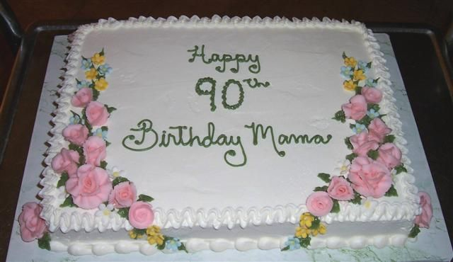 cake designs for 90th birthday | this 90th is a favorite of many people, a simple yellow butter cake ...