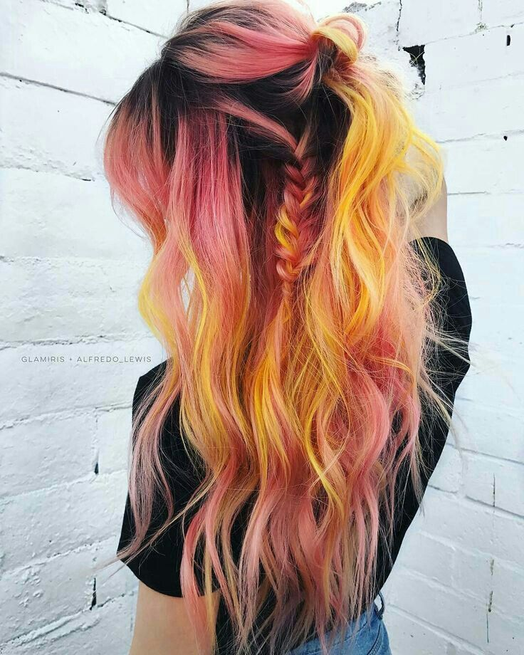 Pin By Meagan Connelly On شعر ملون للبنات Hair Styles Hair Color Orange Cool Hairstyles