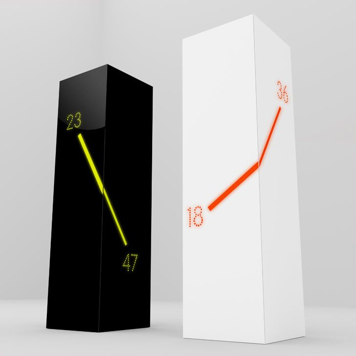 Marvelous U201cMonolithu201d   Table Clock Designed By Emre Bakir
