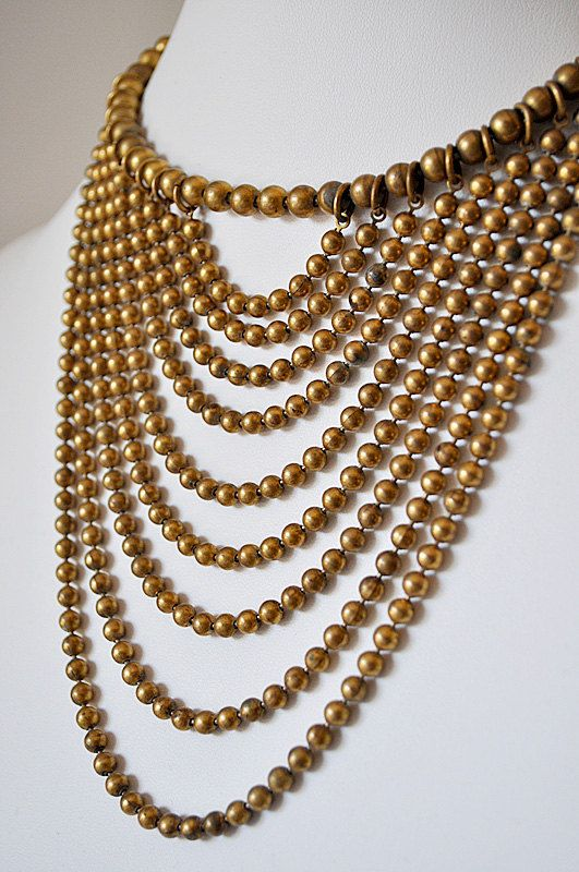 30s beaded fringe necklace.