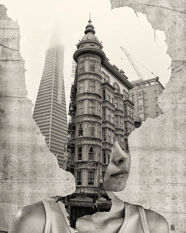 """Where is my mind"" series by Andrea Costantini http://ineedaguide.blogspot.com/2014/12/andrea-costantini.html #art #photography #collage"