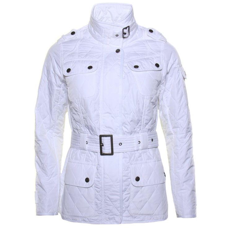 Barbour International Womens White Spring Tourer Quilted Jacket