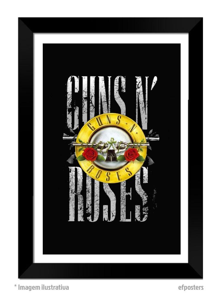 Poster Guns N' Roses | Moldura preta ou branca - R$55,00 | #efposters #efposters_oficial #posters #quadros #posterpersonalizado #postergunsnroses #gunsnroses