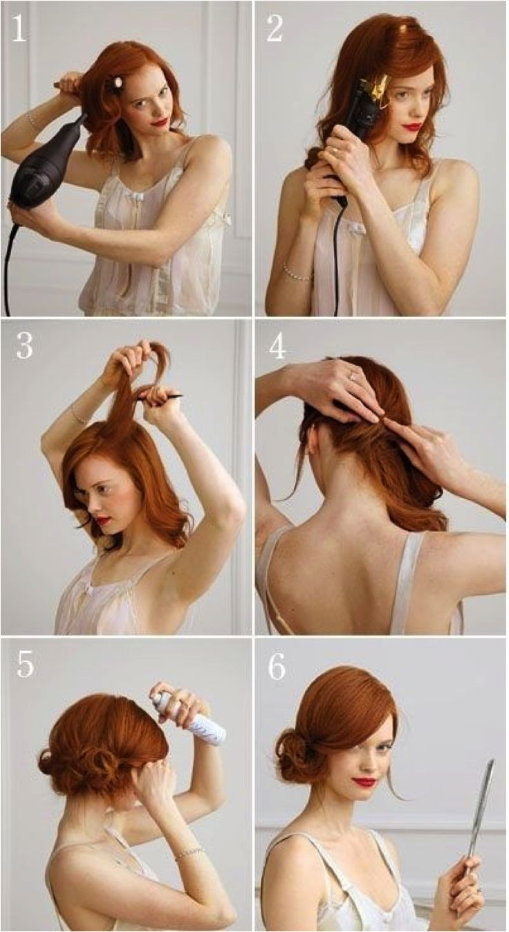 1920's updo for long hair - might be perfect for Lorna's party