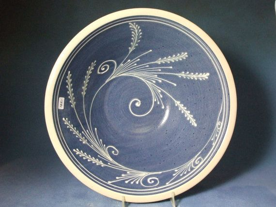 Such a pretty blue bowl!  Great pottery from Etsy!
