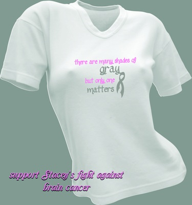 Stacey Maslyn is the mother of a very clode friend of ours. Stacey has recently been diagnosed with Glioblastoma Multiform, a type of brain cancer. In support of the Maslyn Family, we at Ax Graphics are donating these shirts for the family to sell to help support their effort in Stacey's fight. All proceeds go to the Maslyn Family