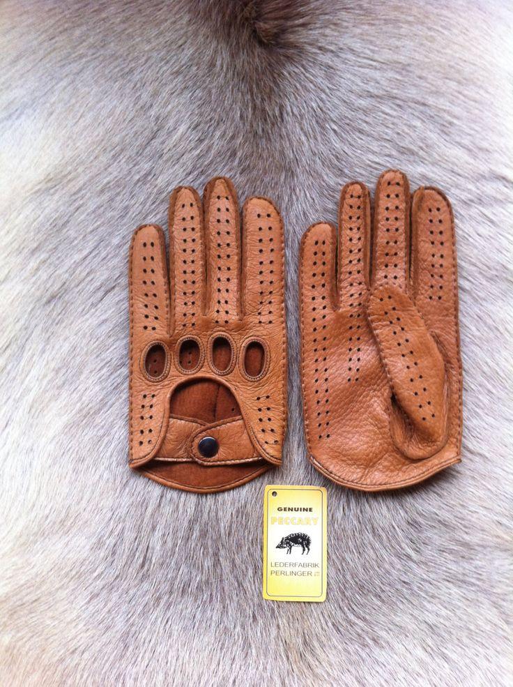 guantes de cuero pecarí de conducir