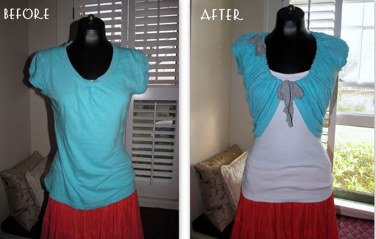 Tee Shirt Re-Style. Another reason to blow the dust off my sewing machine. It's really easy, I can do this.