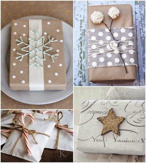 Manualidades y decoracion: Ideas de envoltorios de regalos para Navidad
