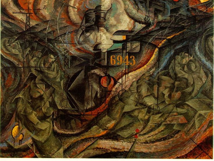 States of Mind- The Farewells by Umberto Boccioni, 1911