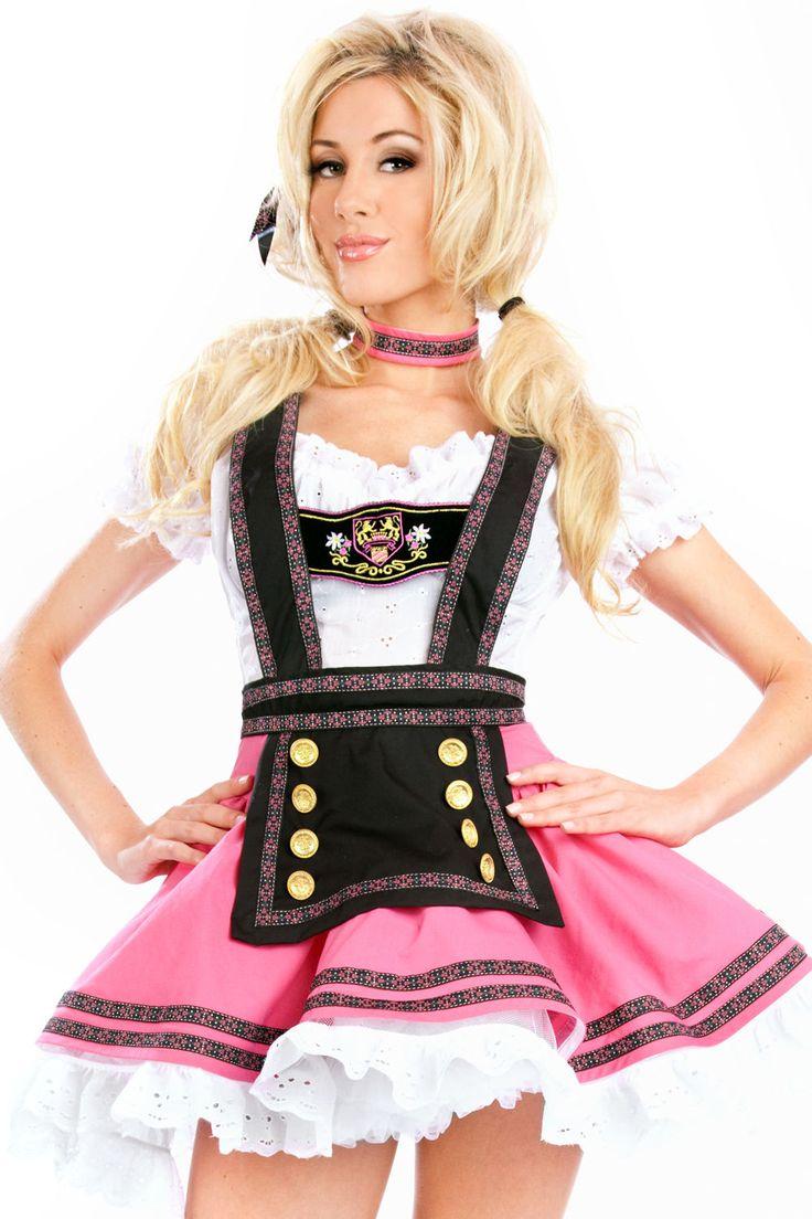 Oktoberfest German Beer Girl Costume Bar Maid Bavarian Wench Womens Fancy Dress | eBay