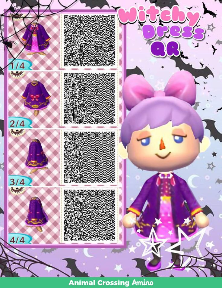 Witch dress, purple and pink, long sleeves Animal