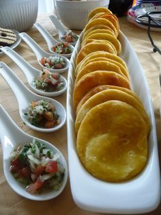 """Sopaipilla"" is a famous chilean food and one of my favorite food, first because it's easy to cook and also because it's very tasty. Sometimes ""sopaipillas"" taste a little bland but you can mix them with pebre."