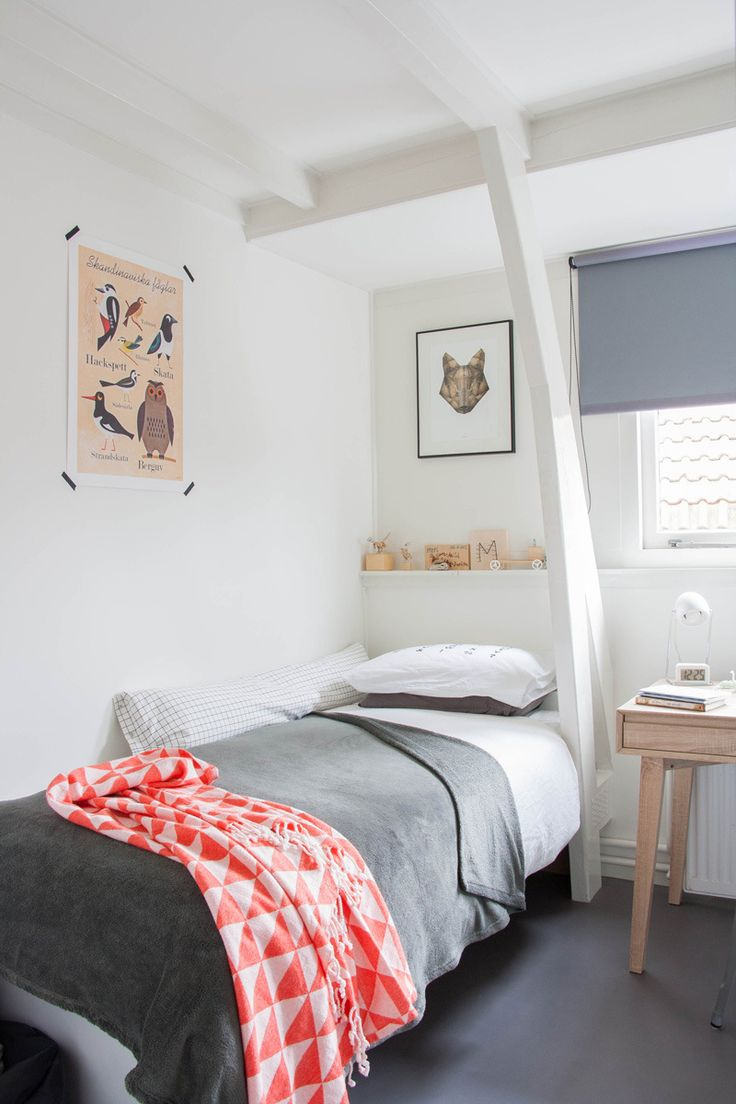 Grey and natural child's room