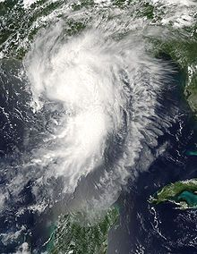 Hurricane Cindy was a tropical cyclone that briefly reached minimal hurricane strength in the Gulf of Mexico during July in the 2005 Atlantic hurricane season and made landfall in Louisiana. It was the third named storm and first hurricane of the season. Cindy was originally thought to have been a tropical storm at peak strength, but was upgraded to a Category 1 hurricane in the post-storm analysis.