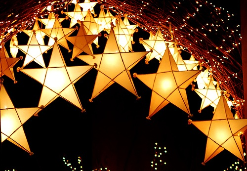 Parol: (pronounced as puh – rol with an emphasis on the 'r') is considered as a traditional Filipino Chritmas decoration, originally a five-point star Christmas lantern. To me it means, one thing: light of hope.