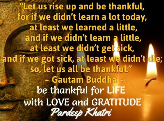 Let give Gratitude for all things we have.