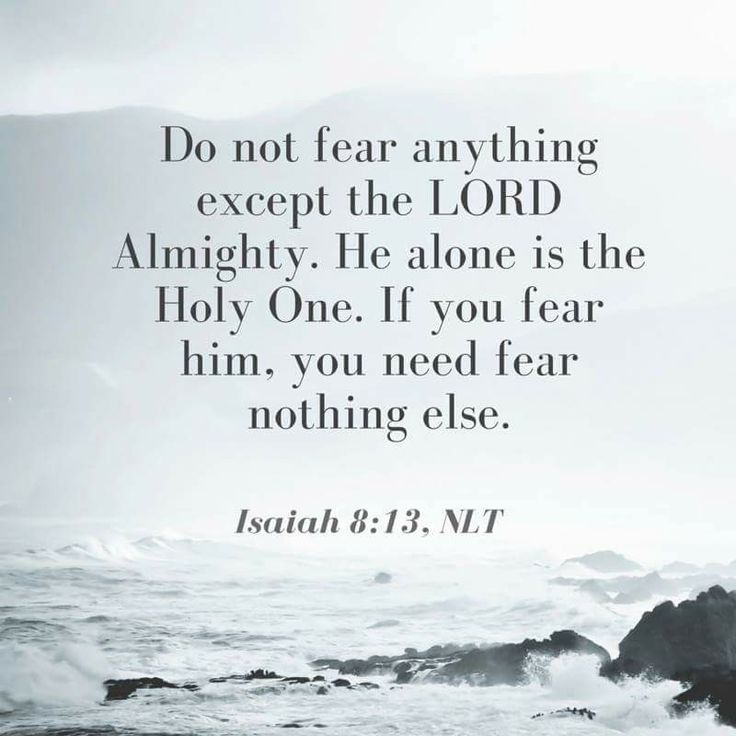 Sanctify the Lord of hosts himself; and let him be your fear, and let him be your dread. Isaiah 8:13