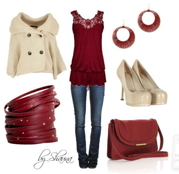 Finally, an outfit to match my favorite accessories! Chardonnay and Merlot!