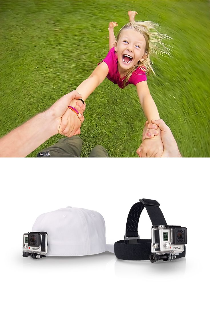 Head Strap + Quick Clip - Quick and easy to use mounts that allow you to wear your GoPro on your head, your hat, your shirt pocket, and on and on.