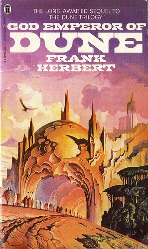 God Emperor of Dune by Frank Herbert, NEL 1972. Cover artist Bruce Pennington. - cool vintage book covers in link