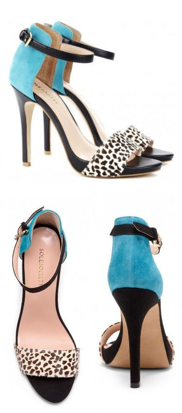 Blue Polka Dot Heels ♥ SO cUte