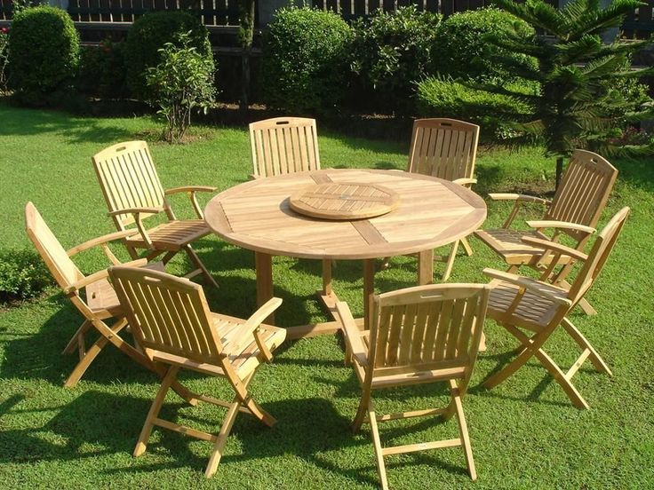 Garden With Teak Furniture Including Chairs And Table Outdoor Teak Garden Furniture Check more at http://www.wearefound.com/outdoor-teak-garden-furniture/