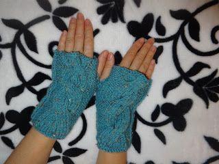 Ručné práce háčikom, ihlicami s láskou: Bezprstové rukavičky