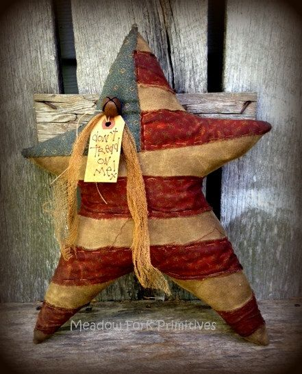 Primitive Folk Art Americana Star--Don't Tread on Me--July 4-Patriotic-Door Greeter--Wall Hanging--Handcrafted--FAAP--Hafair Team by MeadowForkPrims on Etsy