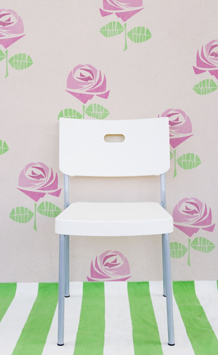 17 best stencils images on pinterest wall stenciling flower rosie floral stencil amipublicfo Images