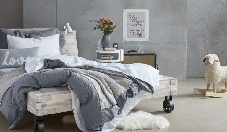 Trendfarbe Grau im Schlafzimmer