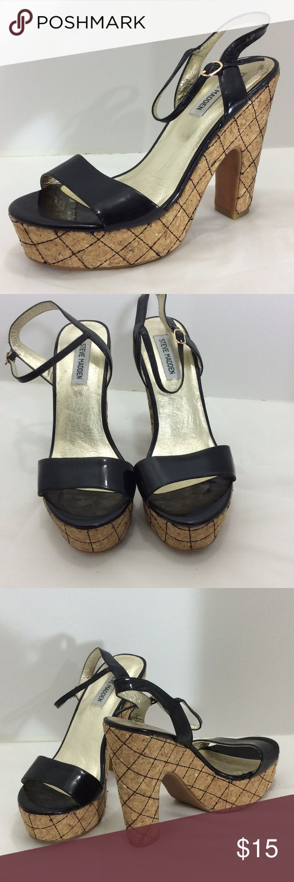 Steve Madden black size 10 shoes Steve Madden black size 10 shoes Steve Madden Shoes Sandals