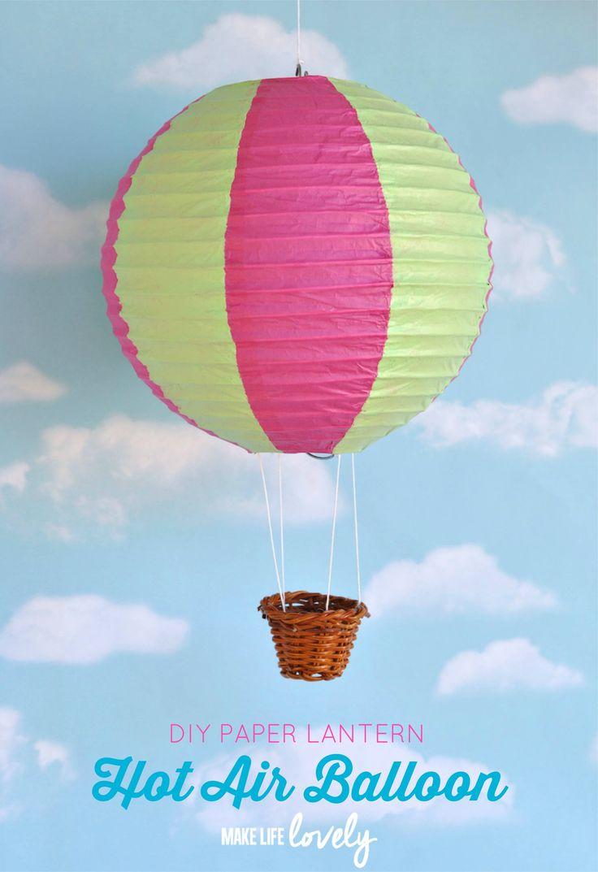 Hot Air Balloon Paper Lantern DIY