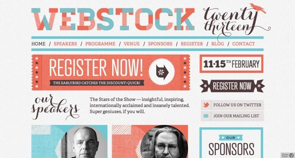http://www.webstock.org.nz/ 24 Awesome Web Design Conferences You Should Know