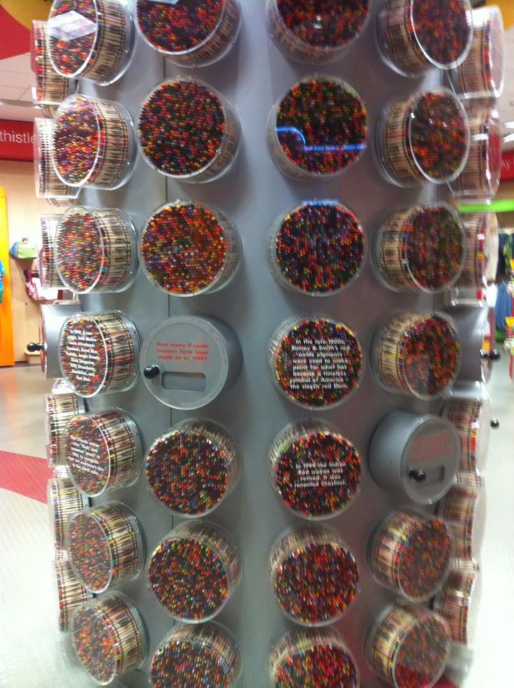 Crayons at the Crayola Store, Kansas City, MO