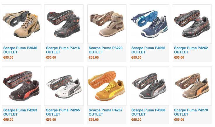 OUTLET  scarpe di sicurezza Puma, ultimi numeri a prezzo super scontato! Solo 55€