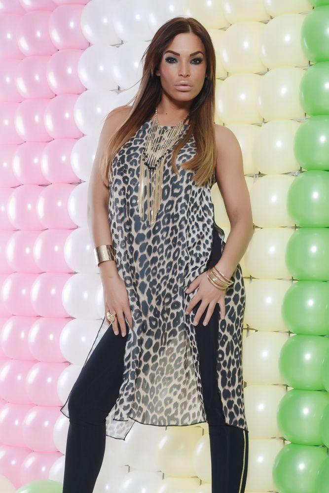 Bluza MissQ Fresh Look Black. Bluza din voal cu animal print. Se potriveste foarte bine in combinatie cu pantaloni mulati lungi dar si…
