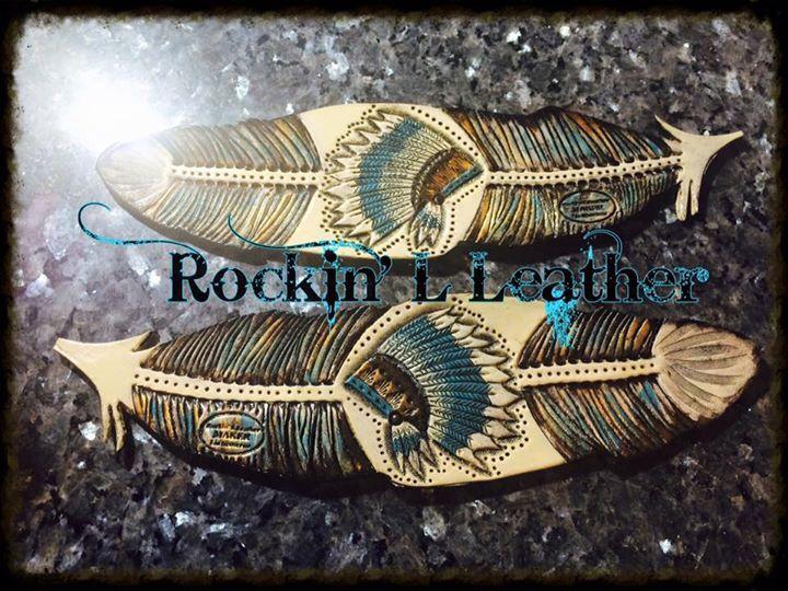 Women's headdress/ feather spur straps #Rockin' L Leather